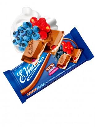 Chocolate de Arándanos y Fresas Silvestres con Nata | Wedel Lotte 100 grs
