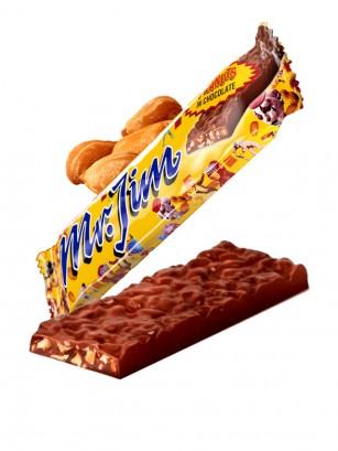 Chocolatina con Cacahuetes Mr. Jim 40 grs.