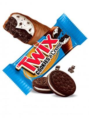 2 Barritas Twix de Sabor Cookies & Cream 38,6 grs.