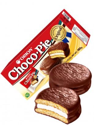 Choco Pie Coreano relleno de Crema de Nube | Box Orion 180 grs.