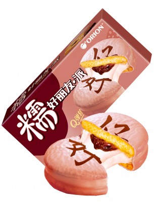 Choco Pie White relleno de Crema de Mochi y Azuki 168 grs.