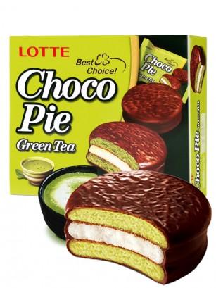 Choco Pie Coreano de Matcha relleno de Crema de Nube | Family Box 12