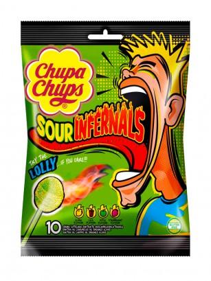 Chupa Chups Acidos Sour Infernals 114 grs.