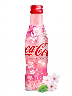 Coca Cola Japonesa Botella Aluminio | Edicion Limitada Sakura 2019 | 250 ml
