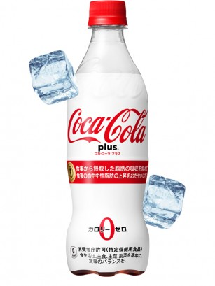 Coca Cola Japonesa White PLUS Dextrina | Sin Azúcar | 470 ml.
