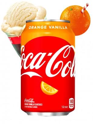 Coca Cola Naranja Vainilla | USA 355 ml | Pedido GRATIS!