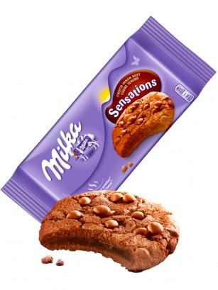 Cookies de Triple Chocolate Milka 156 grs.