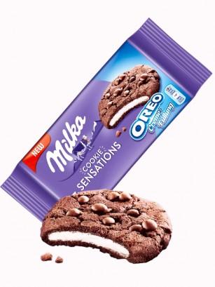 Cookies Milka de Cacao y Relleno de Crema Oreo 156 grs.