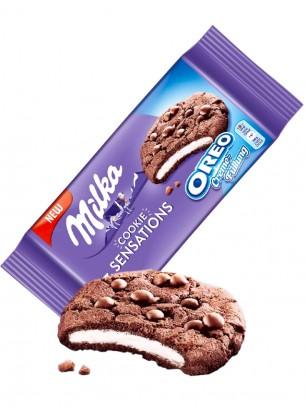 Cookies Milka de Cacao y Relleno de Crema Oreo 182 grs.