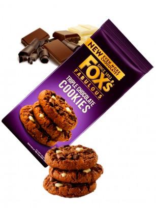 Cookies Triple Chocolate | Fox's Fabulous 180 grs