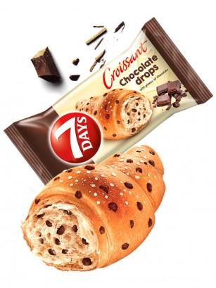 Cruasán con Toppings de Chocolate | Max 100 grs