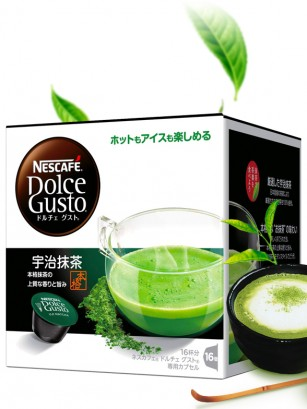Cápsulas Té Matcha Uji | Dolce Gusto Japón | 16 Cápsulas | Pedido GRATIS!