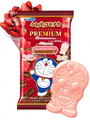 Doraemon de Barquillo y Mousse de Fresa y Chocolate | Premium 18 grs