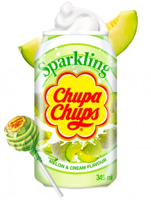 Refresco Coreano Sabor Chupa Chups Melon Cream 345 ml.