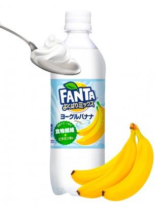 Fanta Japonesa de Plátano y Yogur 490 ml