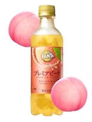 Fanta Japonesa Premium de Doble Melocotón Momo 380 ml.