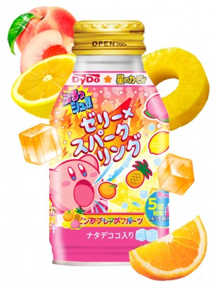 Refresco con Gelatina Mogu Mogu Ponche de Frutas | Edición Limitada Kirby 270 grs.