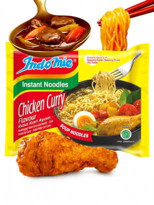 Ramen Indomie de Pollo y Curry 80 grs