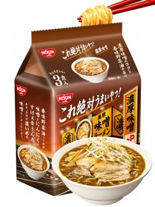 Fideos Ramen Miso y Salsa de Soja | Kore Zettai | Pack de 3 | 291 grs