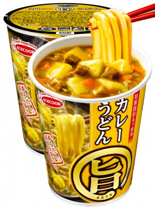 Fideos Udon Cup de Curry | Receta Marui 65 grs.