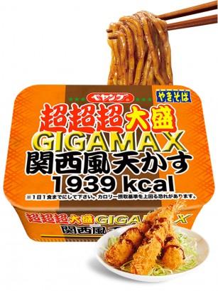 Fideos Yakisoba con Tempura X3 GIGAMAX ENORME | MAXI Kansai 413 grs.
