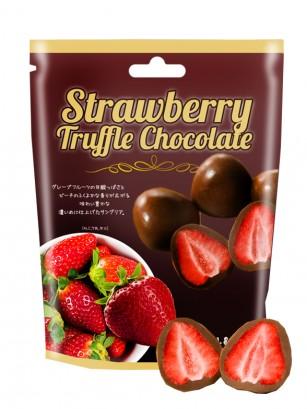 Fresas Japonesas recubiertas de Chocolate con Leche Trufado 60 grs.