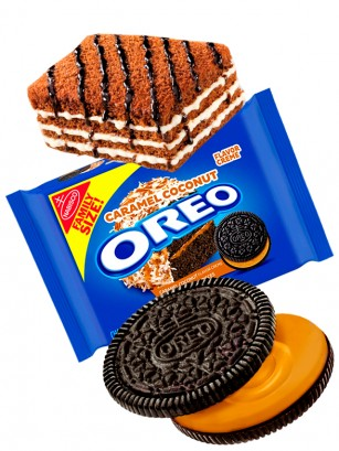 Oreo de Tarta de Chocolate y Caramelo con Coco | Family Size 482 grs.