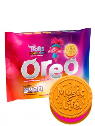 Oreo Poppy Troll Golden Pink Purpurina | 303 grs.