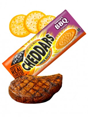 Galletitas Saladas de Cheddar con Sabor a BBQ 150 grs.