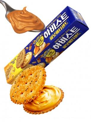 Galletas Coreanas con Mantequilla de Cacahuete 91 grs.