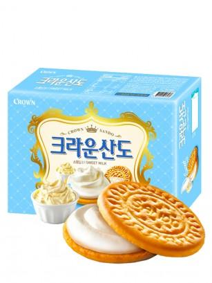 Galletas Coreanas de Crema Batida de Leche | Queen Recipe 161 grs.