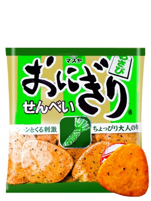 Snack Senbei de Onigiri con Wasabi 55 grs.