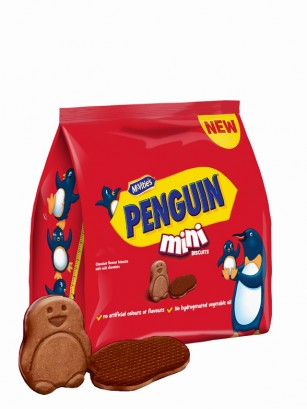 Galletas de Cacao con Chocolate | Mini Bag | Penguin 19 grs.