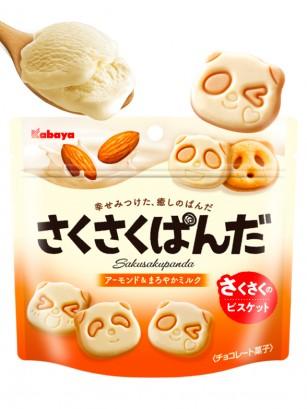Galletas Saku Panda Chocolate Blanco y Praliné 47 grs
