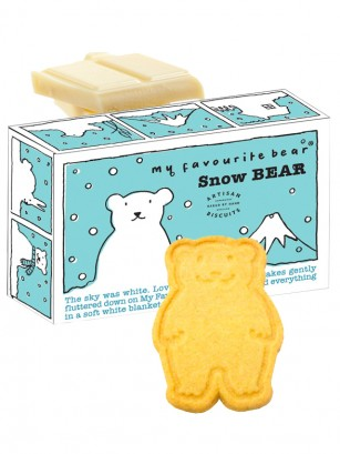 Galletas de Mantequilla con Chocolate Blanco | Snow Bear 100 grs