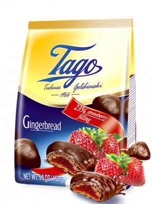 Galletas de Jengibre con Chocolate y Mermelada de Fresa 160 grs