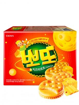Galletas Saladas Coreanas de Crema de Queso Dulce 161 grs