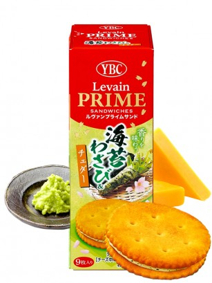 Galletitas Saladas de Nori, Wasabi y Crema de Cheddar 73 grs.