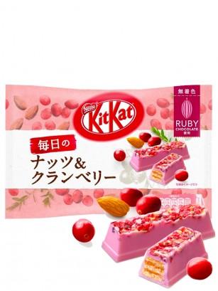 Mini Kit Kats de Arándanos Rojos y Almendras Cacao Ruby | Chocolatory 87 grs