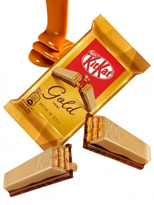 Kit Kat Gold Chocolate Blanco y Caramelo | 4 Barritas
