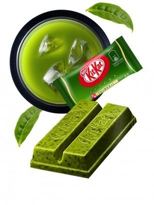 Mini Kit Kat de Matcha con Trocitos de Hoja | Unidad 2 Barritas
