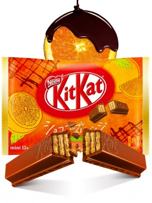 Mini Kit Kats de Chocolate y Naranja | 12 Unidades