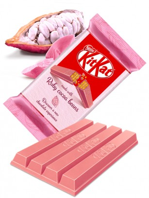 Kit Kat de Cacao Rosa Ruby | 4 Barritas
