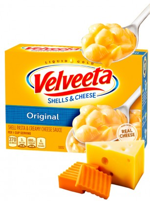 Macaroni & Cheese Receta Americana Velveeta Queso | 340 grs.