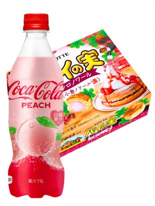 Happy DUO | Coca Cola Japonesa Peach Momo & Pie no Mie Tortitas | OFERTA