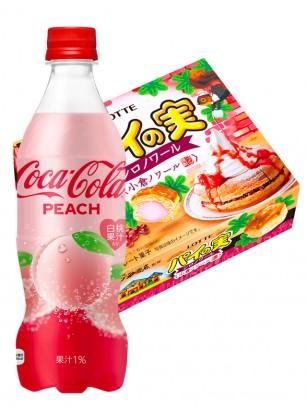 Happy DUO | Coca Cola Japonesa Peach Momo & Pie no Mie Tortitas | OFERTA