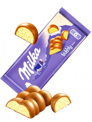 Chocolate Milka relleno de Mousse de Chocolate Blanco 95 grs.