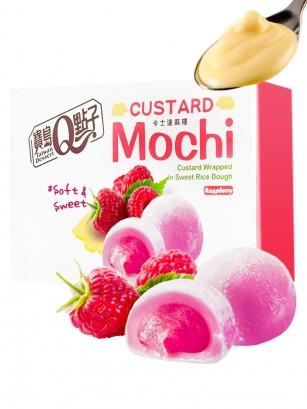 Mochis Daifuku de Crema Pastelera a la Frambuesa | Sakura Box 168 grs