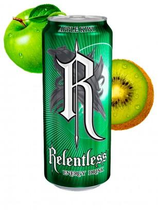 Bebida Energética Relentless Manzana Kiwi 500 ml.