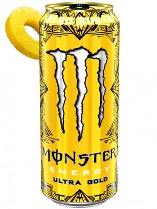 Bebida Energética Monster ZERO Ultra GOLD | USA 473 ml.
